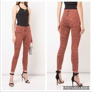 Hudson Jeans Jeans - Mother High waisted leopard ankle crop